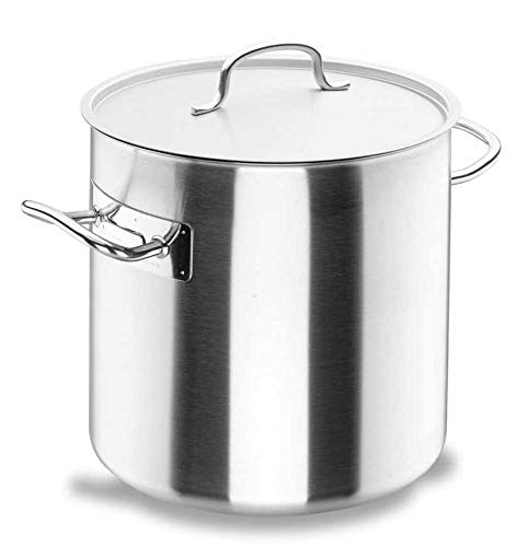 Lacor Chef-Classic 50140 - Olla recta con tapa, Acero Inoxidable 18/10, 40...