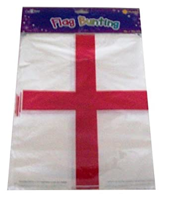 England St Georges Day Flag Bunting Banner 20 Flags 10M - 32 feet Long
