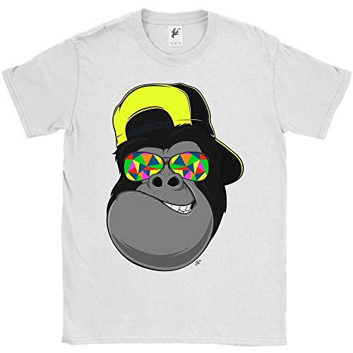 Cap Wearing Funky Sunglasses Cool Gorilla Grinning Mens T-Shirt