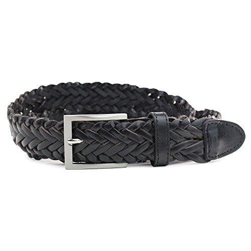 Safekeepers Cinturón Trenzado – Piel –100% Cuero - Cinturón Trenzado Hombre y Mujeres 35 MM