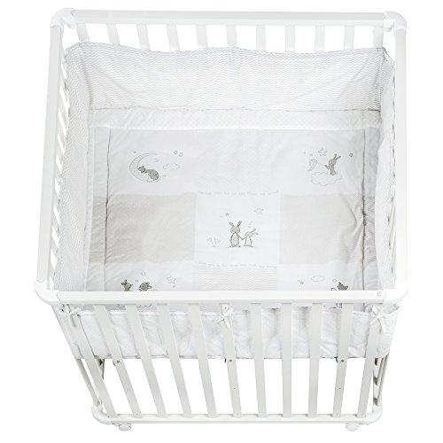 roba Laufgitter 100 x 100 cm weiß, inkl. Schutzeinlage, verschiedene Varianten erhältlich