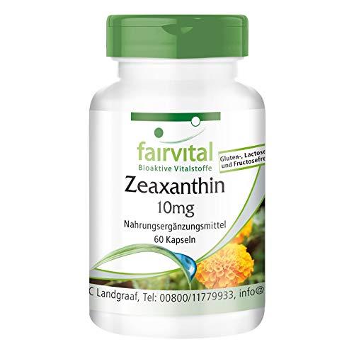 Zeaxantina 10mg - per 2 mesi - VEGAN - alto dosaggio - 60 capsule