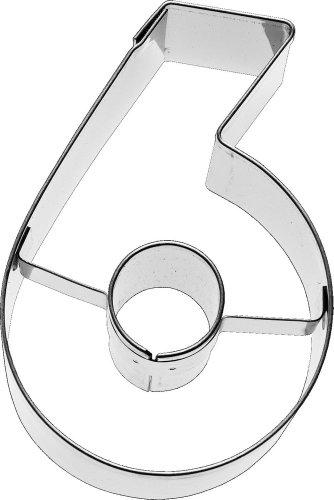 Birkmann Ausstechform Zahl 6, 6 cm, Edelstahl
