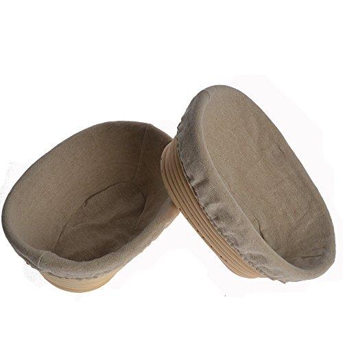 2pcs-8-21cm-oval-banneton-brotform-bake-bread-dough-rising-proofing-proving-rattan-basket-with-linen