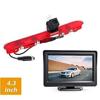 3RD-Bremslicht-Rckfahrkamera-Rckfahrkamera-mit-43-Zoll-LCD-Monitor-Kits-fr-Peugeot-Expert-3-Traveller-Citroen-Space-Tourer-Jumpy3-Toyota-ProAce-Verso-und-ProAce2-2016-2019