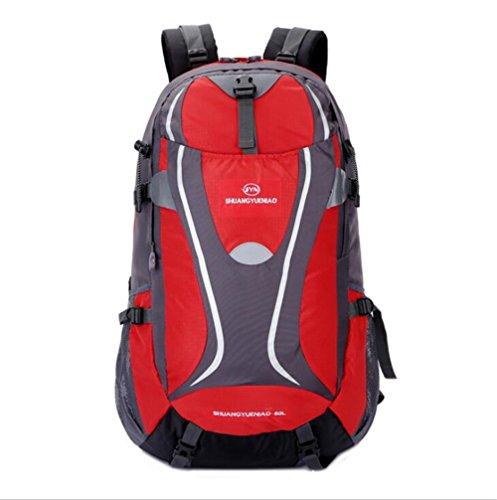 Wmshpeds 50L alpinismo Borsa viaggio di piacere in borsa in nylon capacità grande giovane zainetto C