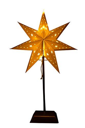 fensterstern Best Season Standstern aus Metall/Papier,20 warmweisse LEDs, Plastik, Weiß, 14 x 34 x 55 cm