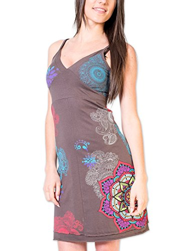 Coton Du Monde - Robe ALEXIA Gris Multicolore