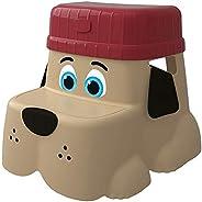 مقعد يساعد ويسند الاطفال في استخدام المرحاض على شكل جرو مع قاعدة وقبعة، 2.5 باوند