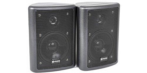 Skytronics 100.015 black loudspeaker - loudspeakers (2.0 channels, black)