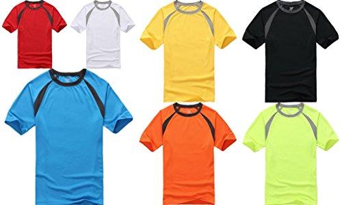 Smile YKK Herren Männer Basis Poloshirt Kurzarmshirt T-Shirt mit Rundhalsausschnitt Kurzes Aermel Grün