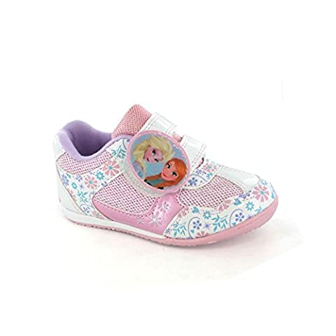 Disney Frozen Kids Girls Pink Trainers 12 Younger
