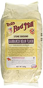 BOB'S RED MILL Gluten Free Garbanzo Flour 500g (PACK OF 1)