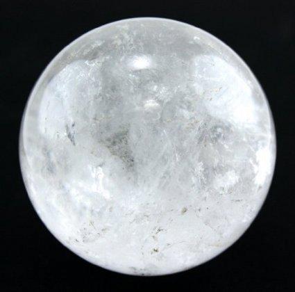 Cristaux de guérison Inde Naturel Quartz cristal, boule de cristal Sphère Reiki guérison–Images de l'article sont prises Close Up