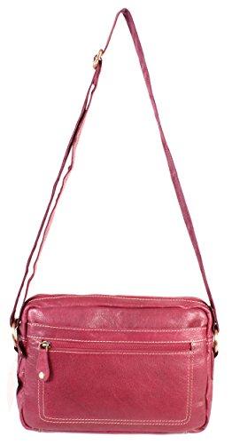 Oxbridge Satchel Shop , Sac pour femme à porter à l'épaule rouge petit