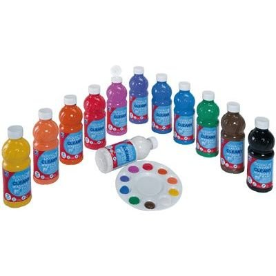 Lefranc bourgeois - assortimento tempera lavabile 12x500ml