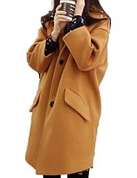 Foluton Damen Wintermantel Maxi Lang Daunenjacke Winterparka Mit Kunstpelz Kapuze Elegant Warme Steppmantel Steppjacke Overcoat Outwear Trenchcoat