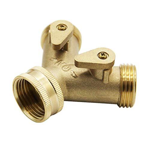 TianranRT Wasserhahnabscheider, Garden Pipe Divider 2-Wege-Wasserhahn-Rohrverbinder Wasserspender Spender Für Die Gartenbewässerung -