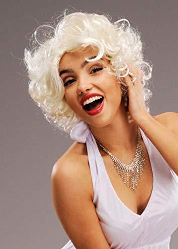 Womens White Blonde Marilyn Monroe Stil ()