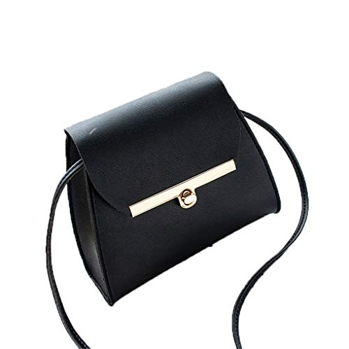 Kleine Klappe Schulter PU Ledertaschen Frauen Mädchen Reine Farbe Mini Messenger Bag Cross Body Handtaschen Black