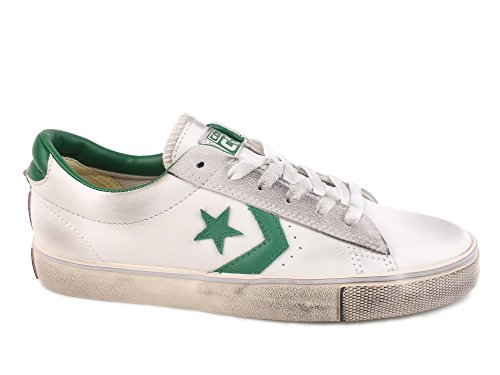 Converse Pro Leather Vulc Ox, Sneaker a Collo Basso Uomo, Bianco (White/Pool Table/Turtledove), 42.5 EU