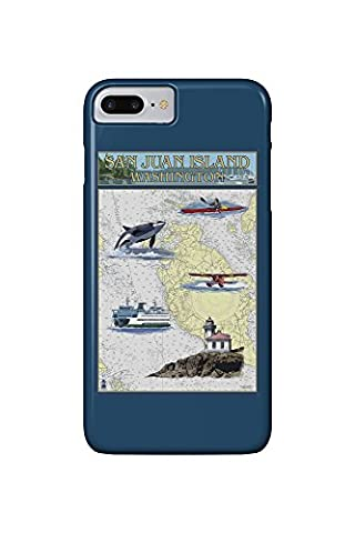San Juan Island, Washington - Nautical Chart (iPhone 7 Plus Cell Phone Case, Slim Barely There)