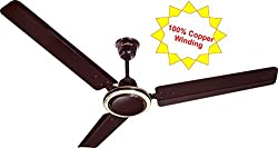 Candes Twistter 1200 mm Ceiling Fan 48 inch Glossy Brown (100% Copper Winding with 2 Year Warranty and 5 Star Rating)