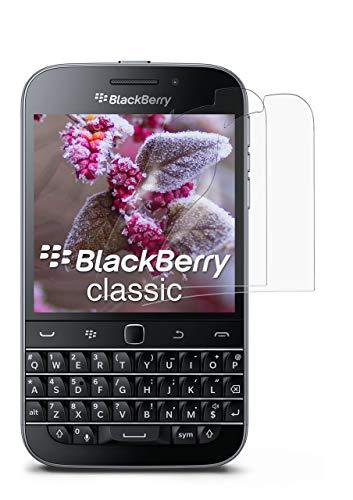 2X BlackBerry Classic | Schutzfolie Matt Bildschirm Schutz [Anti-Reflex] Screen Protector Fingerprint Handy-Folie Matte Bildschirmschutz-Folie für BlackBerry Classic Q20 Bildschirmfolie
