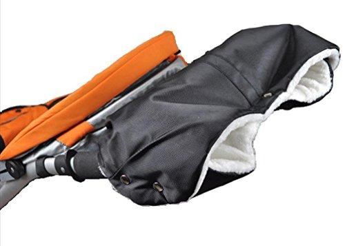 Cover Buggy Cart (BeautyTop Wasserdichte Handwärmer Handschuh Kinderwagen Kinderwagen Cart Mitten Hand Muffs (Schwarz))