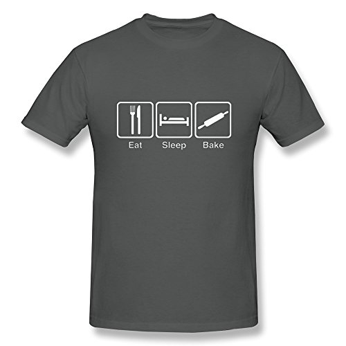 eat-sleep-catees-bake-maglietta-da-uomo-deepheather-xxl
