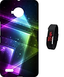 BKDT Marketing Printed back cover for Micromax Canvas Amaze 4G Q491 With Digital Watch