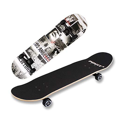 Cruiser Skateboard Retro Komplettboard Cruiser-board Mit Für Erwachsene Kinder Jungen Mädchen Für Anfänger Und Profis 7-lagigem Birke Skateboard