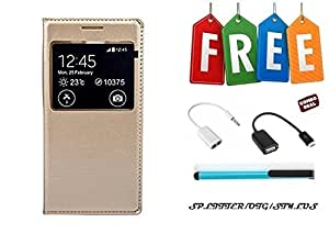 Vivo V3 Max Flip Cover With Free OTG Cable, Stylus and Audio Splitter - Super Value Combo Offer