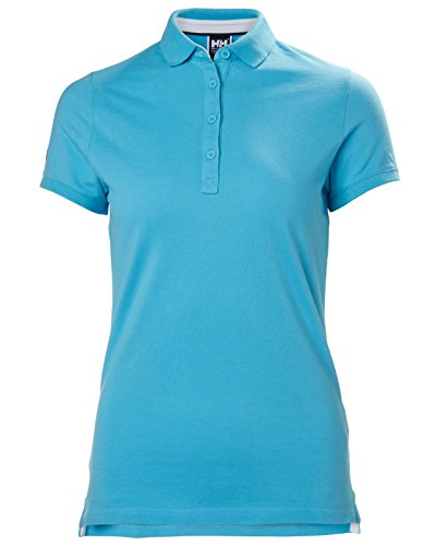 Helly Hansen W Crew Pique 2, Polo Donna Aqua Blue