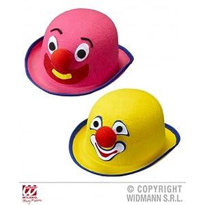 WIDMANN Felt CLOWN BOWLER - pink/yellow
