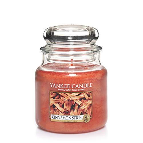 Yankee Candle mittelgroße Duftkerze im Glas, Cinnamon Stick, Brenndauer bis zu 75Stunden