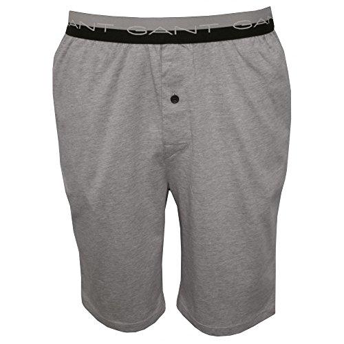 Gant A Strisce Pantaloncini Del Pigiama Di Cotone Jersey Uomo Vita, Grigio Melange Medio