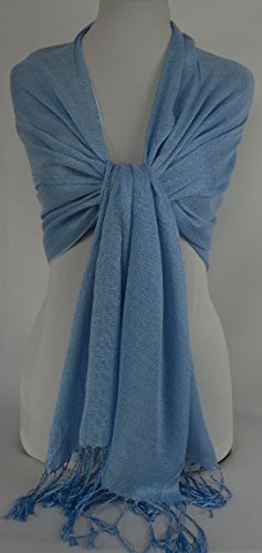 GFM Fastglas Foulard doux Shawl. Strass Soiree Mariage, demoiselles d'honneur Style 1 Seconds Light Blue 3 (#hlnl3)