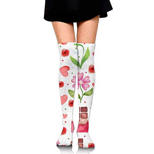 Watercolor Chocolate Flowes Unisex Compression Socks Knee High Sock for Running, Nurses,Shin Splints,Travel,Flight,Pregnancy & Maternity.