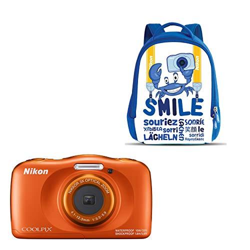 """Oferta de Nikon Coolpix W 150 - Cámara digital compacta de 13.2 MP (pantalla LCD de 3"""", video full HD, impermeable, estabilizador óptico) naranja"""