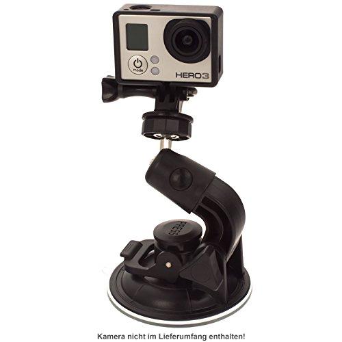 """Smartfox Saugnapf Halterung Universal für alle Actioncams mit 1/4"""" Gewinde z.B. GoPro Hero 1/2 / 3/3+ / 4"""