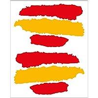 Artimagen Pegatina Bandera Trazos España 2 uds. 65x40 mm/ud.