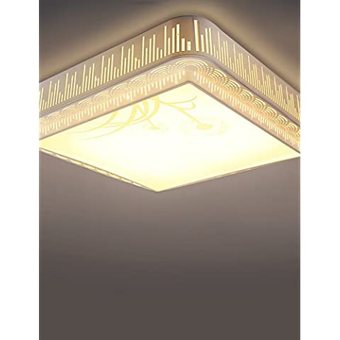 Ornati in tradizionale stile vintage Shabby ChicBOXIMIYA semplice camera da letto / soggiorno con luce variabile piazza LED Lampade da soffitto, lato 52 cm , 220-240V