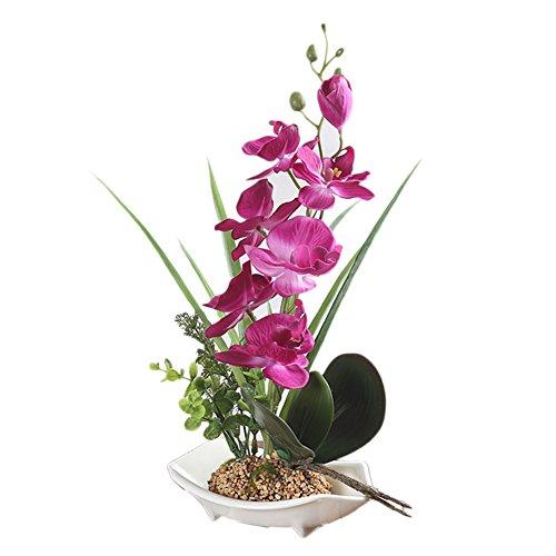 Künstliche Bonsai-Orchidee im Topf violett