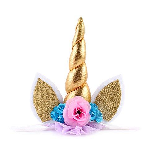 HOCAIES Diadema con orejas y de unicornio para disfraz de Muchacha del muchacho