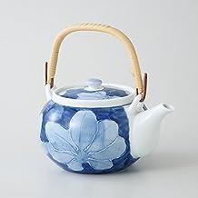 Saikai cerámica Kyusu (pequeña tetera) Noyosai flor azul 99182 de Japón