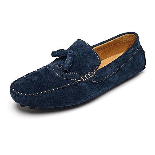 Shufang-shoes, Mokassins Herren 2018, Mokassins Penny Light Mokassins für Männer aus Echtem Leder Mokassins Slip-up aus Echtleder, Marine, 38 Leder Mocassin