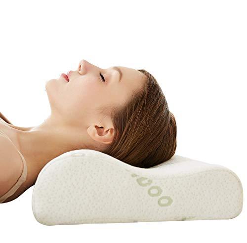 Cervical Contour Bamboo Neck Pillow - Memory Foam...