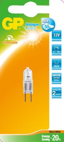 GB Batteries Halogen-Leuchtmittel, Glas, GY6.35, 35 W, warmweiß, 1 x 1 x 4,2 cm - Gy6.35 Kapsel