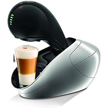 Krups KP600E - Cafetera Nestlé Dolce Gusto Movenza, 15 bares de presión, pantalla LED táctil, plata